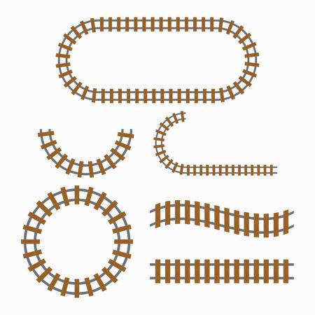 Illustration pour Railroad tracks construction - image libre de droit