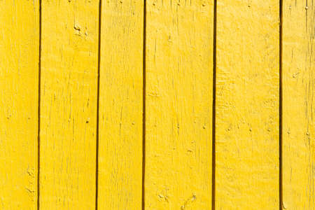Photo pour Seamless empty space background of vintage textured yellow wooden wall with rough weathered surface - image libre de droit