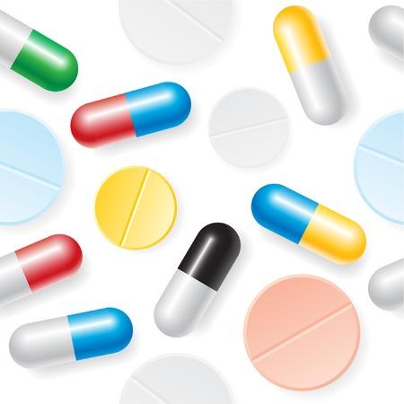 Medication seamless background.