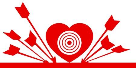 Heart: beside the mark (allegorical icon).