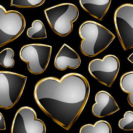 Hearts seamless pattern - background for continuous replicate. See more  seamless patterns in my portfolio.