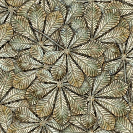 Bronze chestnut leafs seamless background - seamless pattern for continuous replicate. See more seamless patterns in my portfolio.
