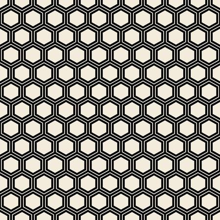 Photo for Seamless black hexagon pattern. - Royalty Free Image