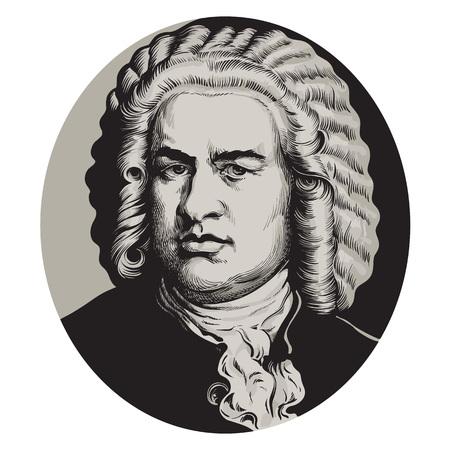 Ilustración de Johann Sebastian Bach - Imagen libre de derechos