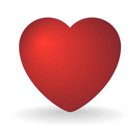 Photo pour Red heart on a white - image libre de droit