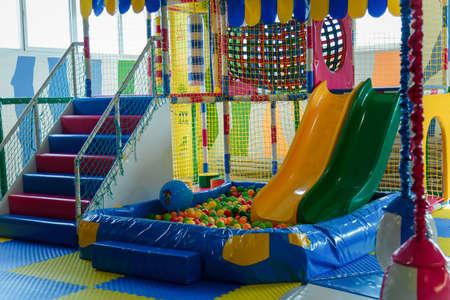 Photo pour Izmail, Ukraine - Sept. 2017. Play center for children with different activities, toys and attrations. Entertainment concept. - image libre de droit