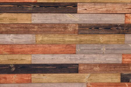 Photo pour Brown wooden boards or fence texture background or backdrop with old paint - image libre de droit