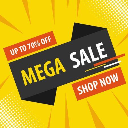 Illustration pour Online sale, discounts on goods. Vector, cartoon illustration. Vector - image libre de droit