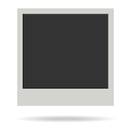 Illustration pour Retro photo frame. Old photo frame with shadow isolated on white background. Vector, cartoon illustration. Vector. - image libre de droit