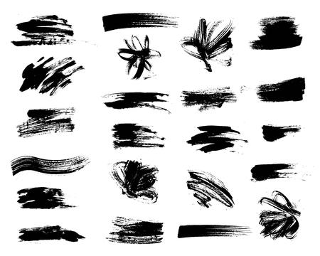 Illustration pour Vector set of grunge artistic brush strokes. Creative design elements. - image libre de droit