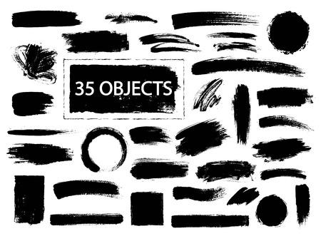 Ilustración de Collection of hand drawn creative design elements - Imagen libre de derechos