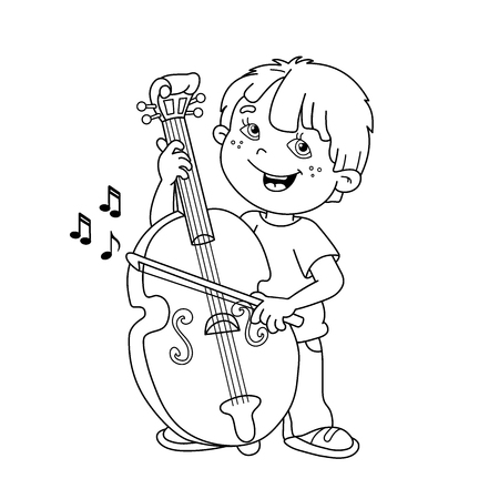 Pin on string instrument coloring pages | 450x450