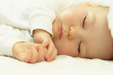 Photo for close-up portrait of a beautiful sleeping baby - Royalty Free Image