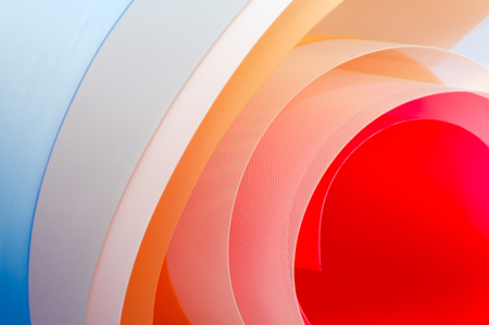 Photo for Art photography - background of multi-colored glossy sheets. - Royalty Free Image