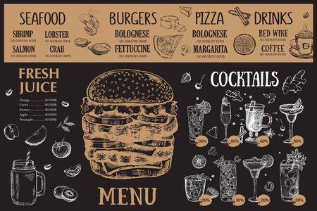Foto für Restaurant cafe menu, template design. Food flyer. - Lizenzfreies Bild