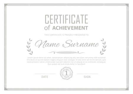 Illustration for Official blue guilloche border for certificate. Vector illustration. Green frame - Royalty Free Image