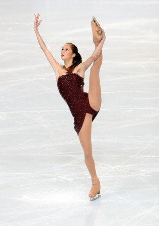 French figure skater Candice DIDIER during the Ladies short skating event of the Eric Bompard Figure Skating trophy on November 14, 2008 at the Palais-Omnisports de Paris-Bercy, France. This is Candice's short program as of season 2008/2009.