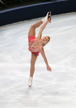 Canadian figure skater Joannie ROCHETTE during the Ladies short skating event of the Eric Bompard Figure Skating trophy on November 14, 2008 at the Palais-Omnisports de Paris-Bercy, France. This is Joannie's short program as of season 2008/2009.