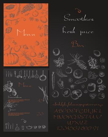 Foto für Smoothie with fruits, vegetables and berries. Smoothies and fresh juices bar menu - Lizenzfreies Bild
