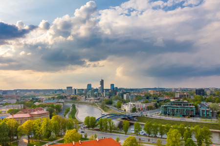 Cityscape of Vilnius, Lithuania. View from the Gediminas Tower.