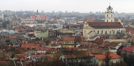 View of Vilnius from above  Vilnius Old Town, Lithuania
