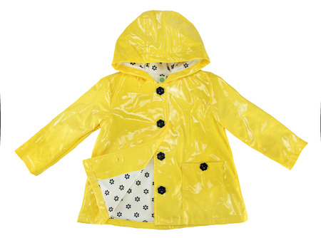 Foto de Elegance rain jacket yellow for girl - Imagen libre de derechos