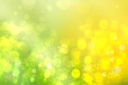 Foto de Abstract green light and yellow colorful summer bokeh background. - Imagen libre de derechos