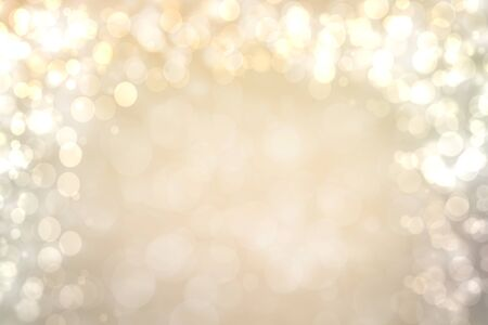 Photo for Abstract festive bright brown silver background with white and brown bokeh circles. Template for your design. Beautiful texture. - Royalty Free Image