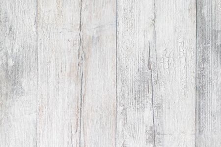 Photo pour Gray white wooden texture. Closeup of light gray rustic wooden immitation background. Beautiful backdrop with artificial wood grain. Macro. - image libre de droit