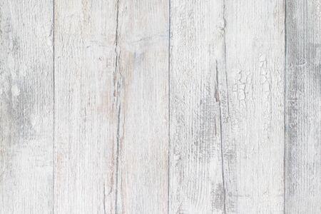 Foto de Gray white wooden texture. Closeup of light gray rustic wooden immitation background. Beautiful backdrop with artificial wood grain. Macro. - Imagen libre de derechos
