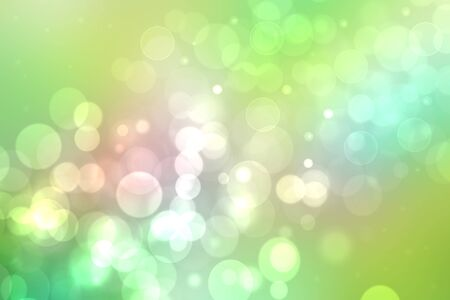 Photo pour Abstract delicate gradient green light and yellow pastel spring or summer bokeh background. Beautiful texture. - image libre de droit