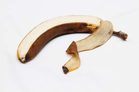 Photo for the banana peel has darkened - Royalty Free Image