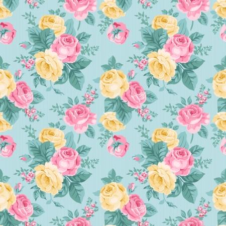 Illustration pour seamless vintage floral pattern - image libre de droit
