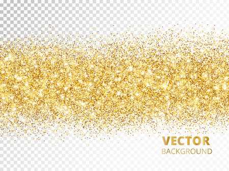 Ilustración de Sparkling glitter border isolated on transparent background, vec - Imagen libre de derechos