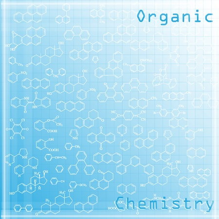 Abstract organic chemistry background with aromatic substances