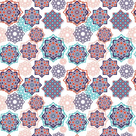 Illustration for Festival graphic of islamic geometric art. - Royalty Free Image