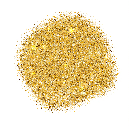 Ilustración de Gold sparkles on white background. Gold glitter background. - Imagen libre de derechos