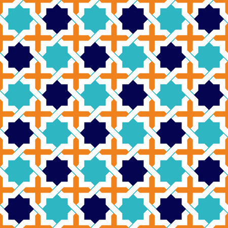 Ilustración de Seamless Islamic patterns in beige. Traditional muslim ornament. - Imagen libre de derechos