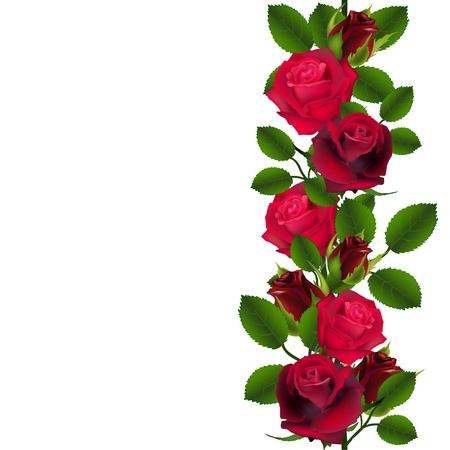 Illustration pour Seamless red roses pattern - image libre de droit