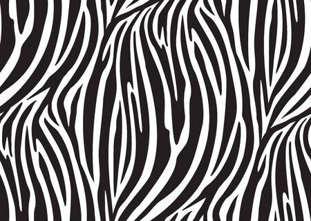 Illustration for Zebra seamless pattern in abstract style on black background. Vector illustration. Camouflage. Seamless swatch in the swatches panel - Royalty Free Image