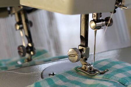 Photo pour Sewing machine needle so close, macro object - image libre de droit