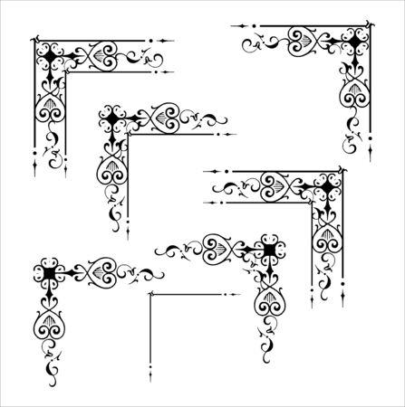 Illustration for Decorative corner and frame element - Royalty Free Image