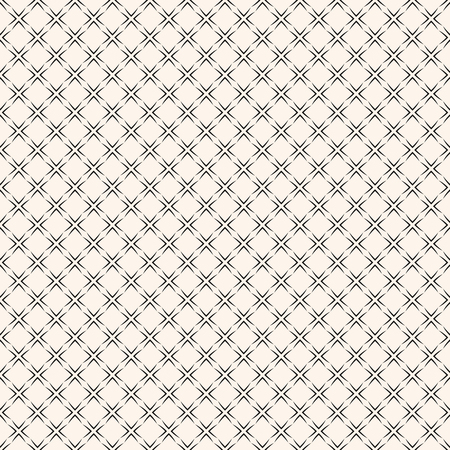 Illustration pour Vector geometric seamless pattern with square grid, lattice, mesh, net, thin lines, repeat geometric tiles. Elegant black and white ornament texture. Subtle abstract monochrome background design - image libre de droit
