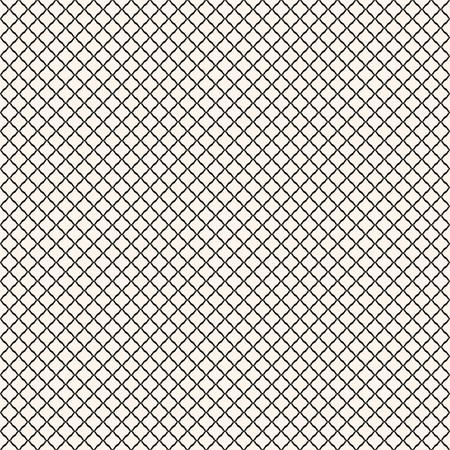Illustration pour Vector seamless pattern, simple black and white geometric texture.  Simple monochrome illustration of mesh, fishnet, lattice, tissue structure. Endless abstract background. Subtle repeatable design - image libre de droit