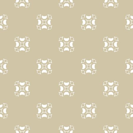 Ilustración de Luxury golden ornament, beige and white texture. Vector geometric seamless pattern with carved shapes. Abstract vintage background in Arabian style. Design for decor, textile, fabric, furniture, cloth - Imagen libre de derechos