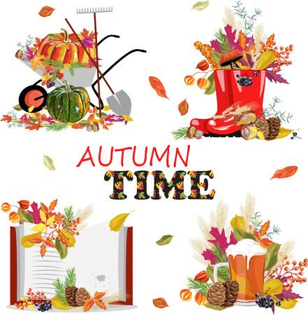 Illustration for set of autumn illustrations - Royalty Free Image