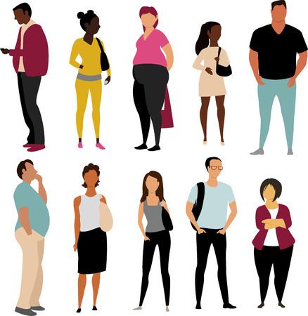 Illustration pour people of different races. vector illustration of people - image libre de droit