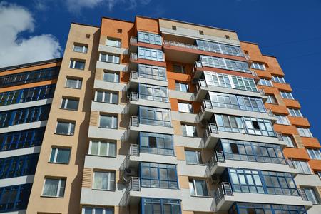 Photo pour A Facade of a modern apartment building - image libre de droit