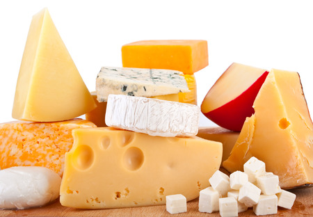 Various types of cheese compositionの写真素材