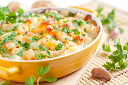 Foto für baked potato with cheese - flavored pudding, food close up - Lizenzfreies Bild